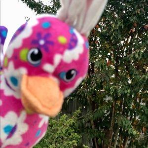Angry Bunny Duck Plush Floral Stuffed Animal Beani